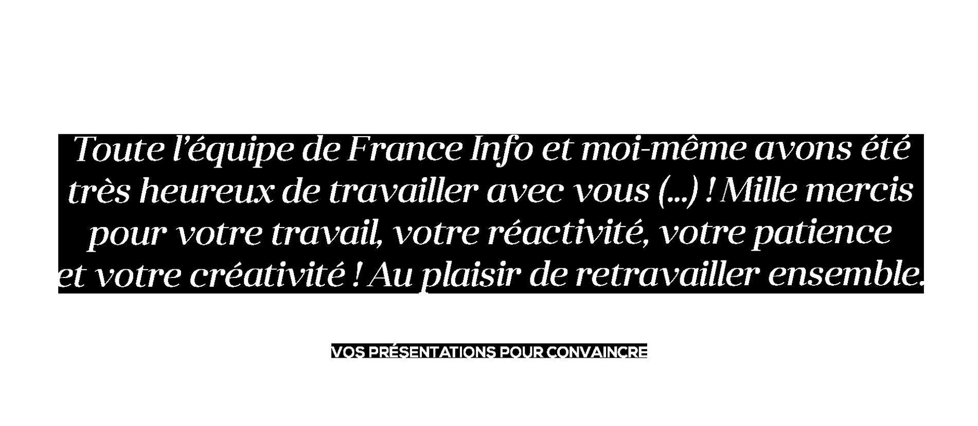 Témoignage Radio France pour La Boite à Slides