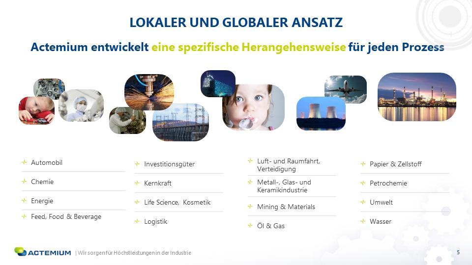 Slide Actemium traduite en allemand