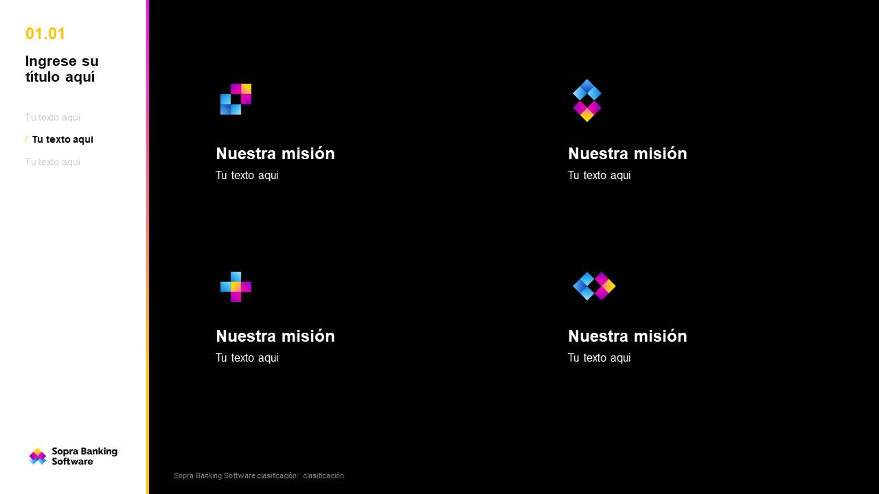 Présentation PowerPoint Sopra traduite en espagnol