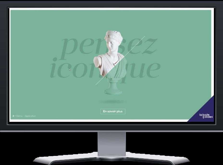 Application présentation de démonstration pour La Boite a slides